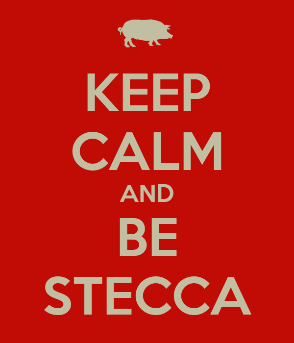 KEEP CALM AND BE STECCA