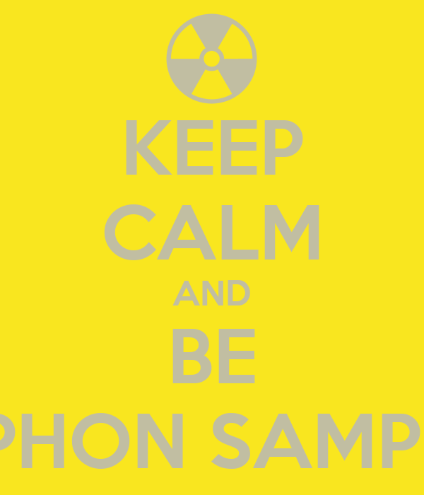 KEEP CALM AND BE STEPHON SAMPSON