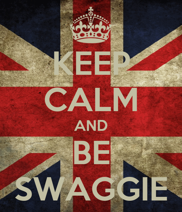 KEEP CALM AND BE SWAGGIE
