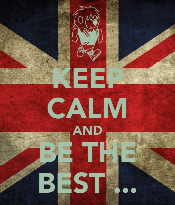 KEEP CALM AND BE THE BEST ...