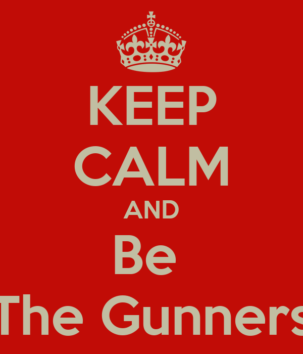KEEP CALM AND Be  The Gunners