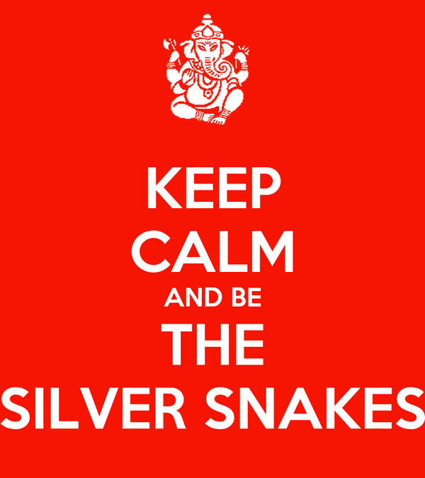 KEEP CALM AND BE THE SILVER SNAKES