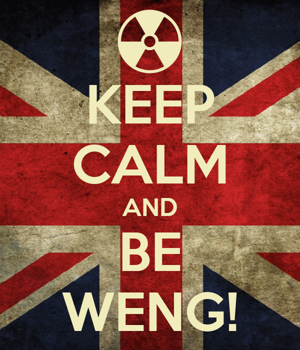 KEEP CALM AND BE WENG!