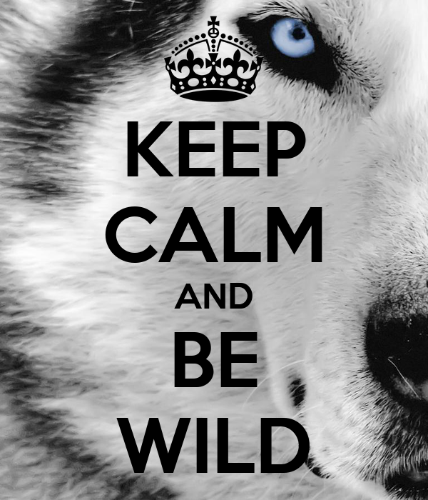 KEEP CALM AND BE WILD