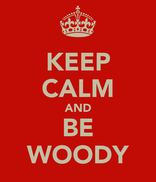 KEEP CALM AND BE WOODY