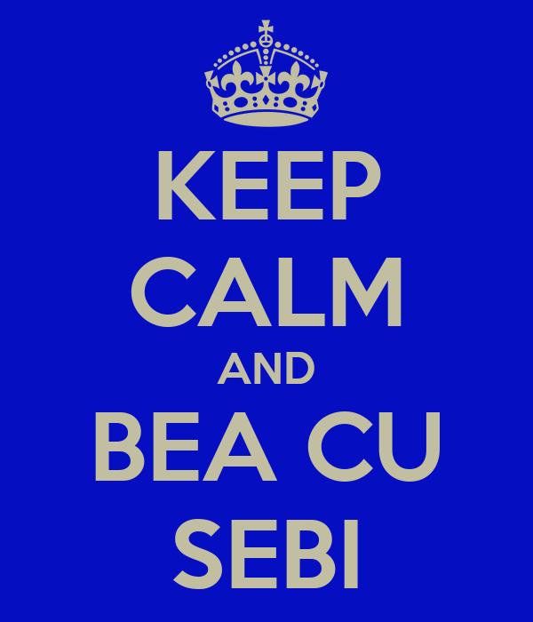 KEEP CALM AND BEA CU SEBI