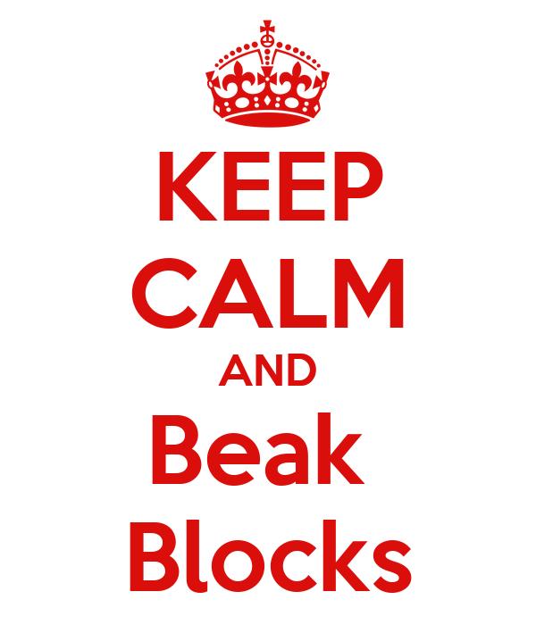 KEEP CALM AND Beak  Blocks