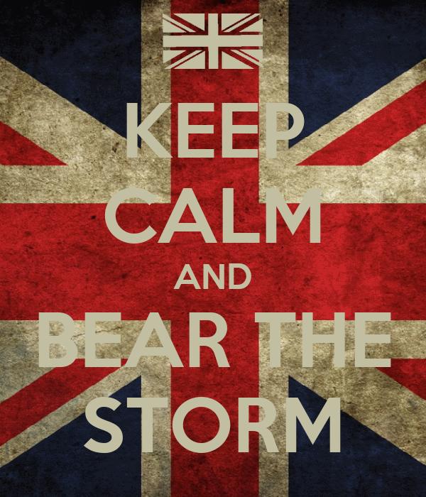 KEEP CALM AND BEAR THE STORM