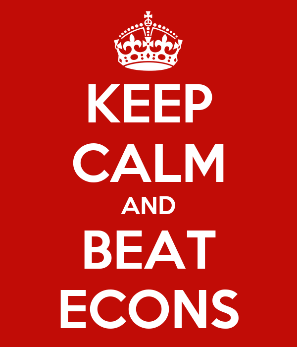 KEEP CALM AND BEAT ECONS