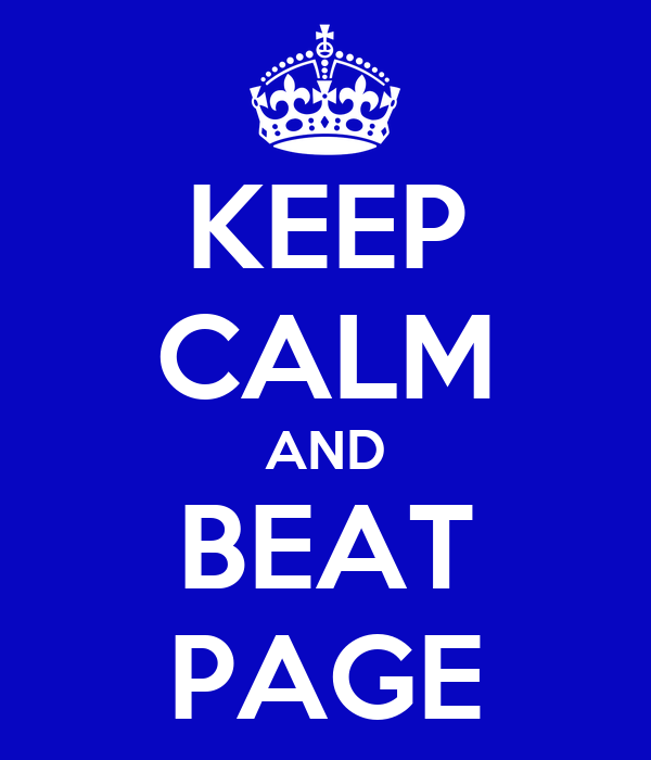 KEEP CALM AND BEAT PAGE