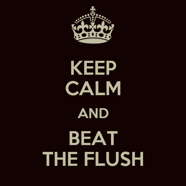 KEEP CALM AND BEAT THE FLUSH