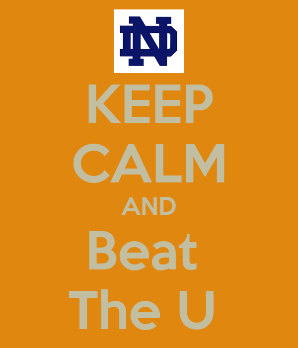 KEEP CALM AND Beat  The U