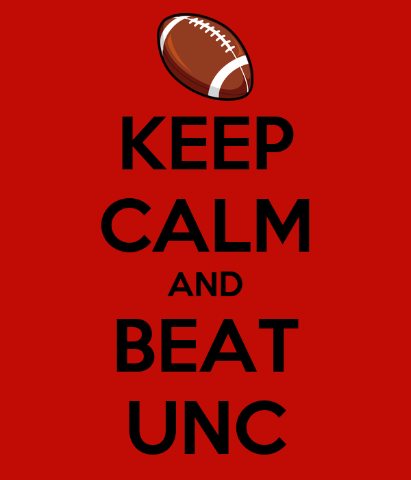 KEEP CALM AND BEAT UNC