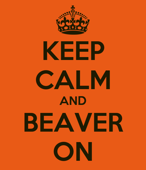 KEEP CALM AND BEAVER ON