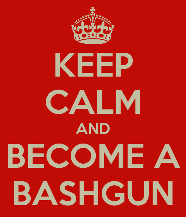 KEEP CALM AND BECOME A BASHGUN
