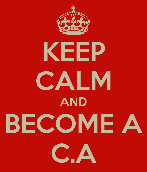 KEEP CALM AND BECOME A C.A