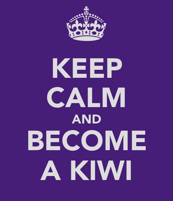 KEEP CALM AND BECOME A KIWI
