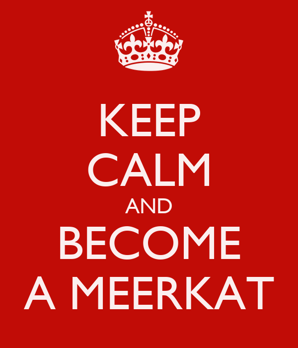 KEEP CALM AND BECOME A MEERKAT