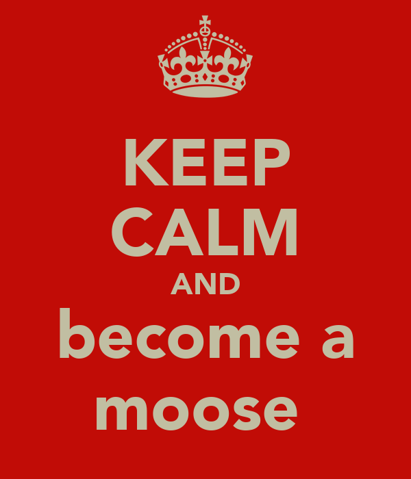 KEEP CALM AND become a moose