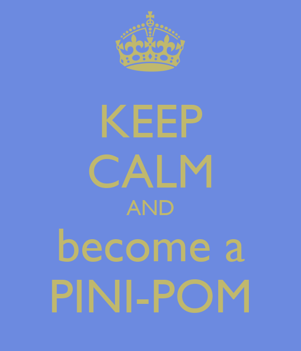 KEEP CALM AND become a PINI-POM