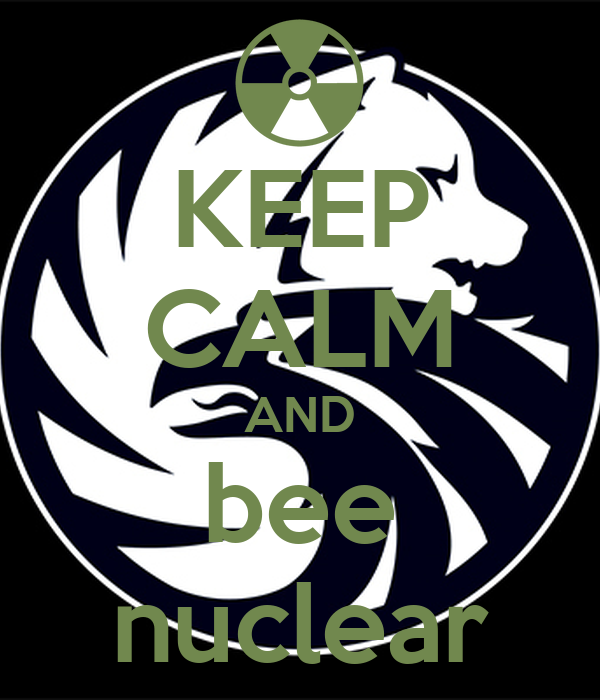 KEEP CALM AND bee nuclear