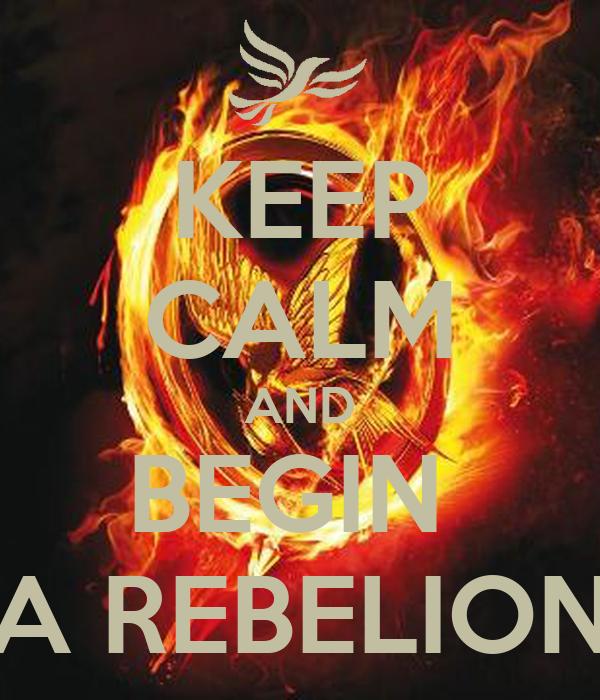 KEEP CALM AND BEGIN  A REBELION