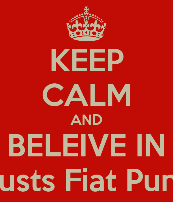 KEEP CALM AND BELEIVE IN Lausts Fiat Punto