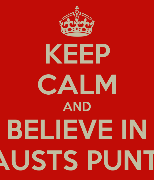 KEEP CALM AND BELIEVE IN LAUSTS PUNTO