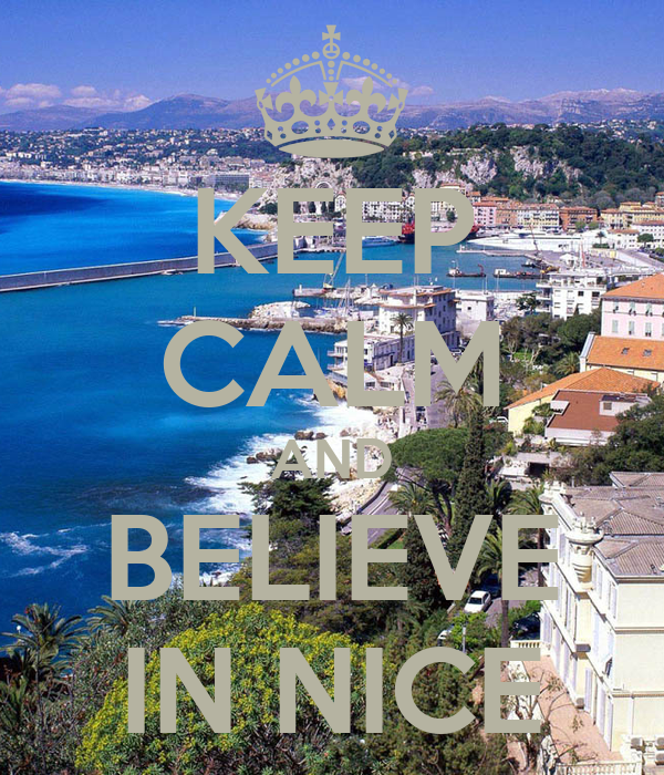 KEEP CALM AND BELIEVE IN NICE
