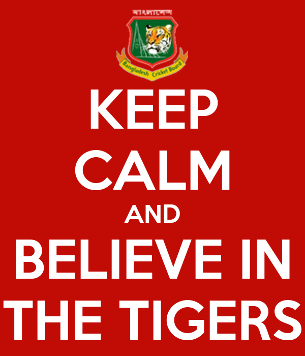 KEEP CALM AND BELIEVE IN THE TIGERS
