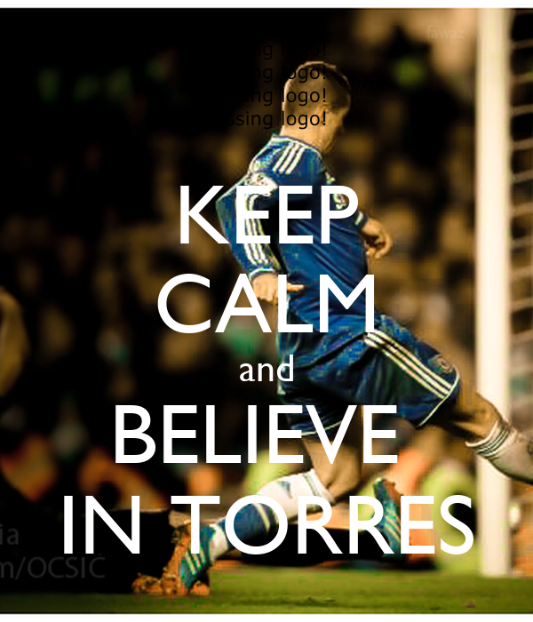 KEEP CALM and BELIEVE  IN TORRES