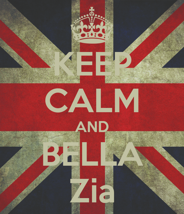 KEEP CALM AND BELLA Zia