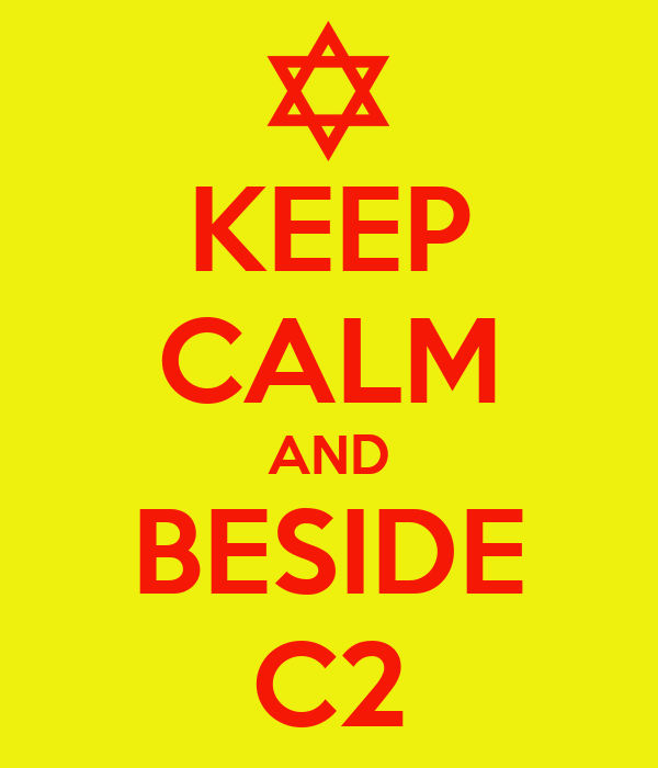 KEEP CALM AND BESIDE C2