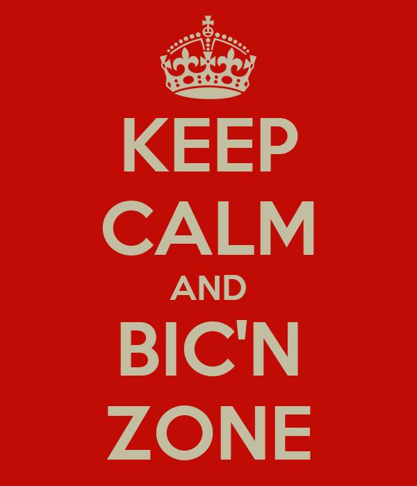 KEEP CALM AND BIC'N ZONE