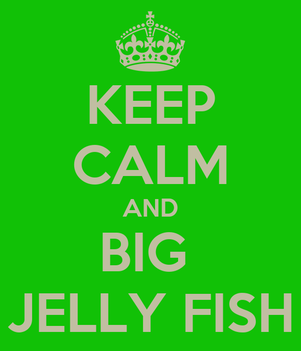 KEEP CALM AND BIG  JELLY FISH