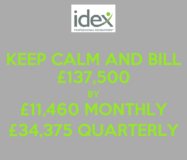 KEEP CALM AND BILL £137,500 BY £11,460 MONTHLY £34,375 QUARTERLY