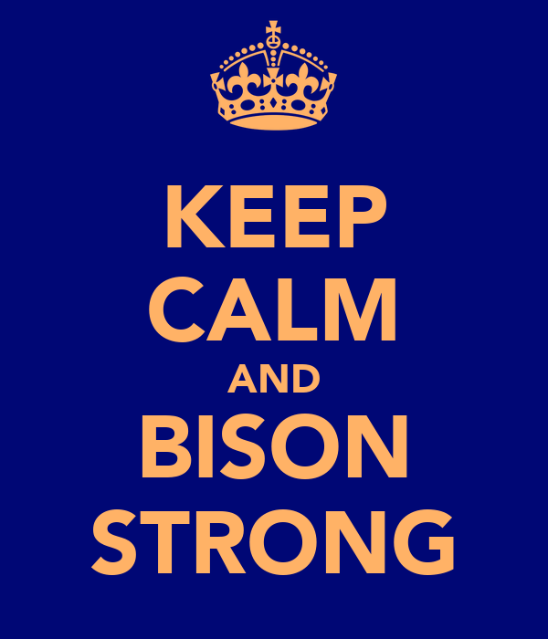 KEEP CALM AND BISON STRONG