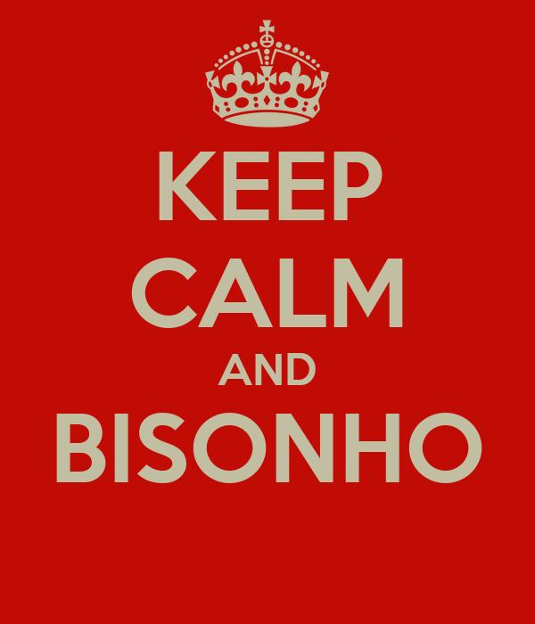 KEEP CALM AND BISONHO