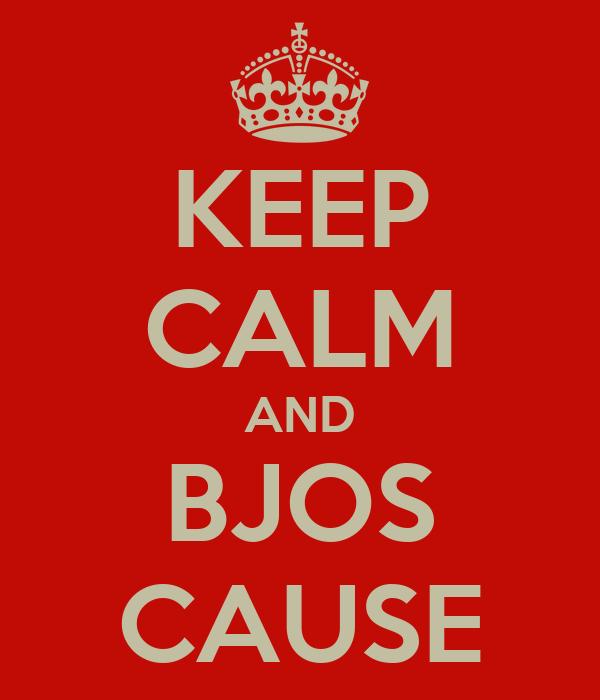 KEEP CALM AND BJOS CAUSE
