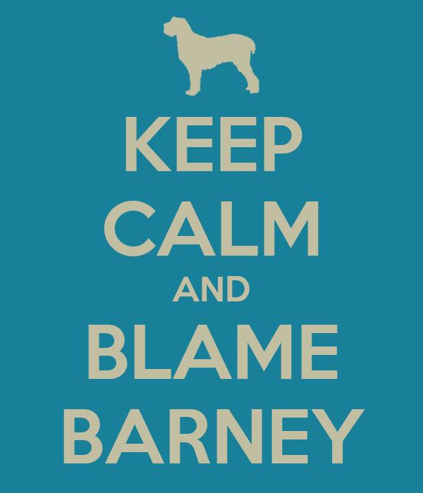 KEEP CALM AND BLAME BARNEY