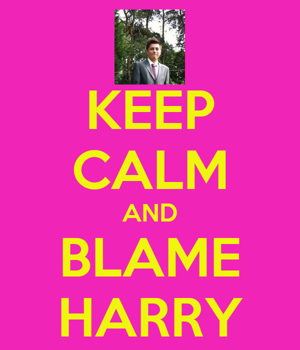 KEEP CALM AND BLAME HARRY