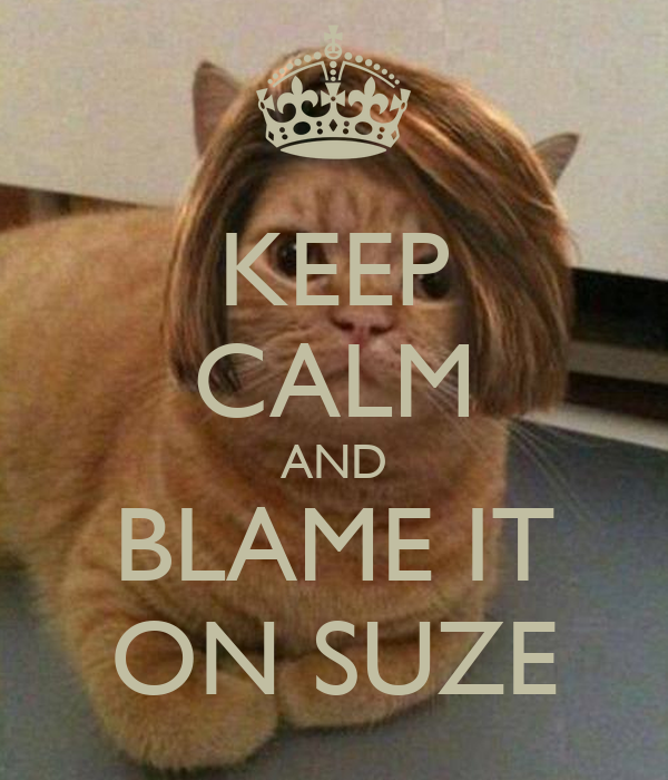 KEEP CALM AND BLAME IT ON SUZE