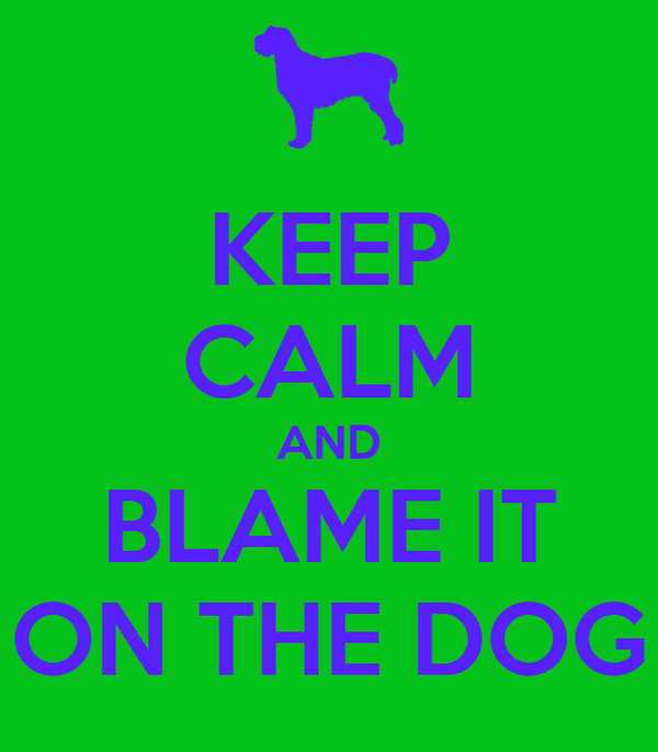 KEEP CALM AND BLAME IT ON THE DOG