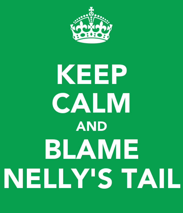KEEP CALM AND BLAME NELLY'S TAIL