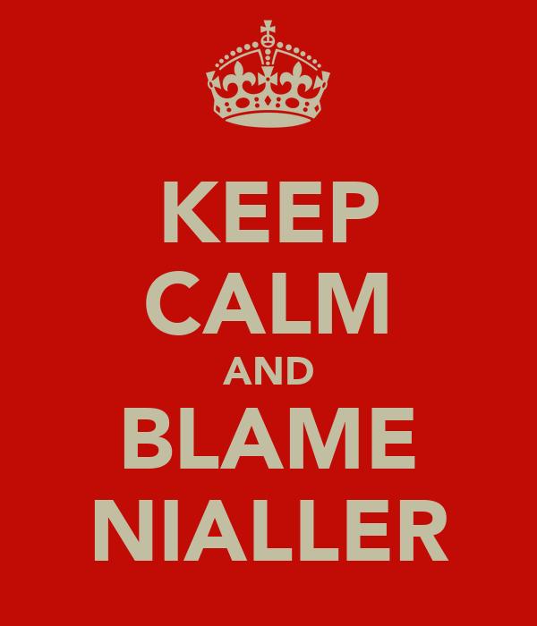 KEEP CALM AND BLAME NIALLER
