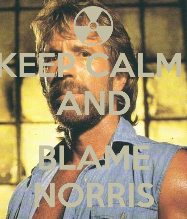 KEEP CALM  AND  BLAME NORRIS