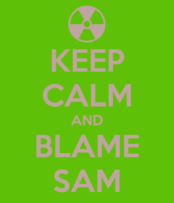 KEEP CALM AND BLAME SAM