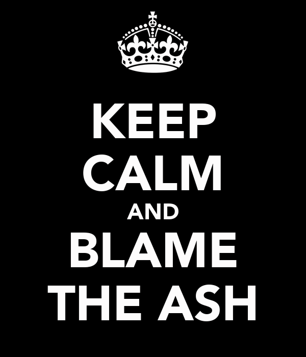 KEEP CALM AND BLAME THE ASH