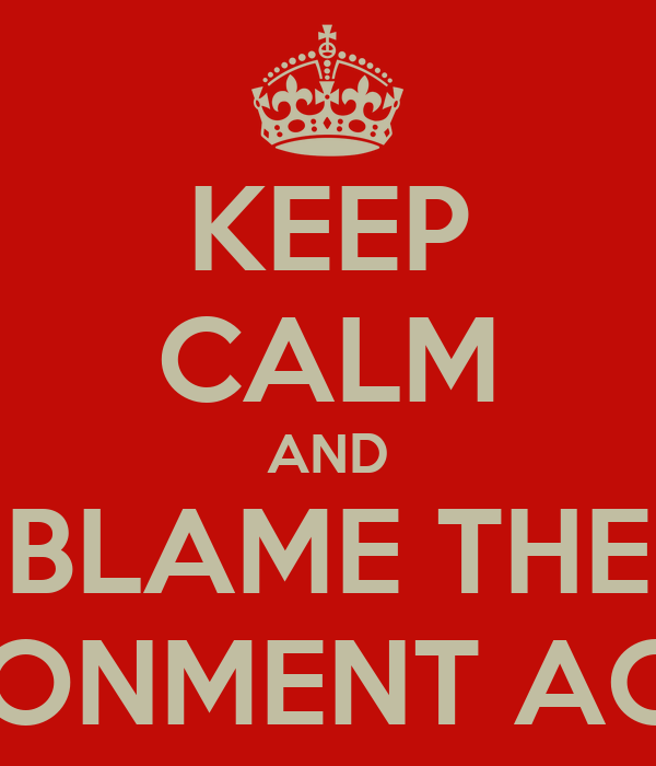 KEEP CALM AND BLAME THE ENVIRONMENT AGENCY