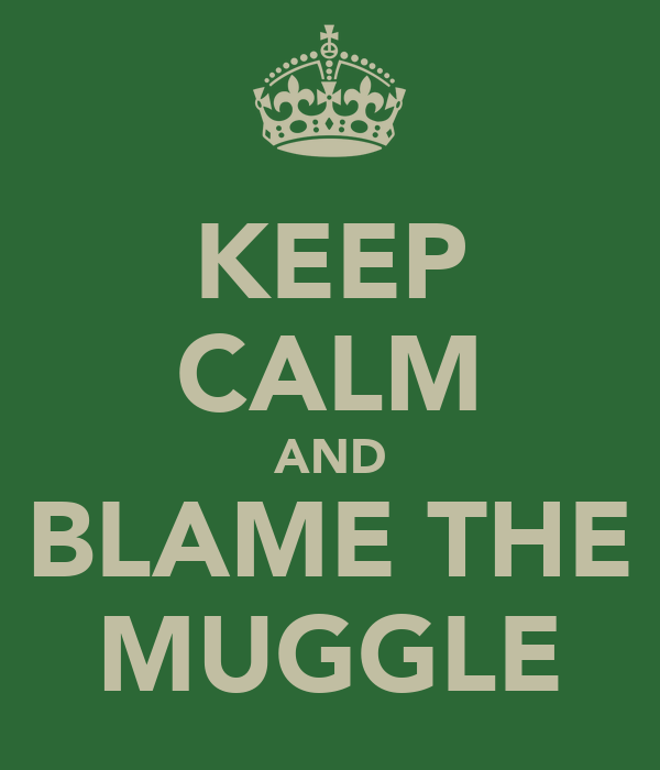 KEEP CALM AND BLAME THE MUGGLE